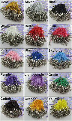 100Pc Mobile Cell Phone Lanyard Strap Lobster Clasp Cord 15Color-1 Or Mixed
