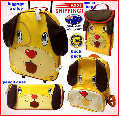 Luggage SET Animal backpack, lunch cooler, trolley, pencil case Portable Dog