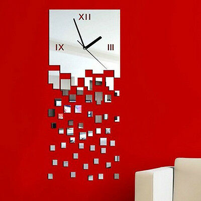 MOSAIC Pattern Sticker DIY Mirror Wall Clock Wall Sticker Home Decoration Nice