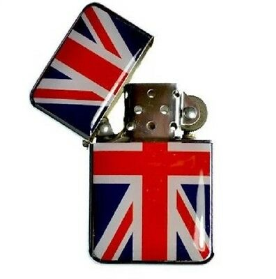 Union Jack Flag Lighter High Quality  Petrol Wind proof Christmas Gift UK SELL