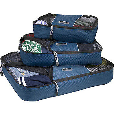 eBags Packing Cubes - 3pc Set - Denim Packing Aid NEW