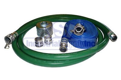 "2"" Kit Trash Pump Suction 50ft Discharge Hose w/Camlock"