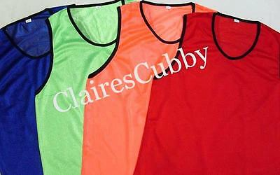 6 YOUTH SCRIMMAGE PRACTICE JERSEYS PINNIES MESH VEST SOCCER FOOTBALL BASKETBALL