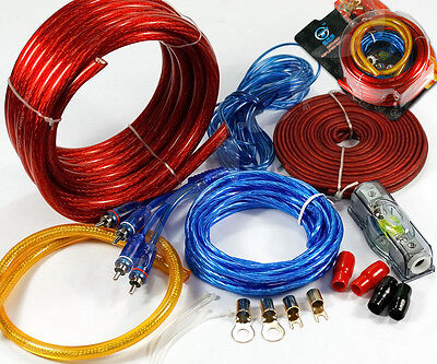 2500W Car Amplifier RCA Audio 100AMP Wiring Fuse Cable