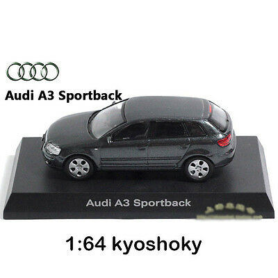 Grey Kyosho 1:64 AUDI A3 Diecast Model Car Mint 1/64 2007 limited edition
