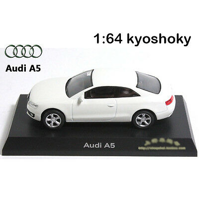 White Kyosho 1:64 AUDI A5 Diecast Model Car Mint 1/64 2007 limited edition