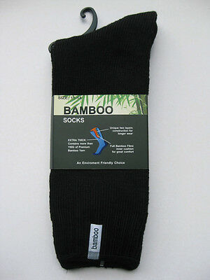 4 Pairs Thick 92% Bamboo Cushion Socks for Walking, Boot, Work 6-11,11-14