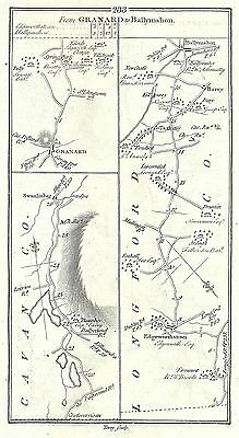 Antique map, Roads from Newtown Gore to Swanlinbar, Carrick to Ballyshannon (1)