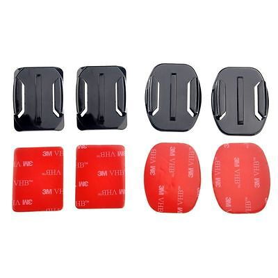 6 pcs Flat 3M Adhesive Mounts accessories For Gopro Hero HD 3+ 3 2 NEW