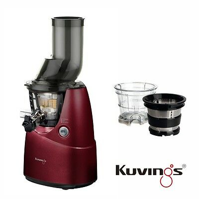 Kuvings Whole Slow Juicer B6000PR Rot  inkl. Eiscreme & Smoothies Set 60 U/min