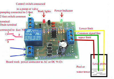9V-12V Auto Liquid Level Controller Switch Module Water Level Detection Sensor