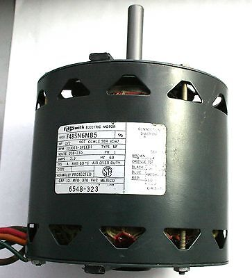 1915 century 1hp electric industial motor cast iron single for Ao smith 1 2 hp motor