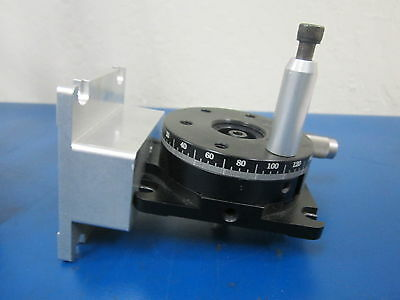 Newport Rotation Stage Model 481-A assembly with mount plate and sm13 micrometer
