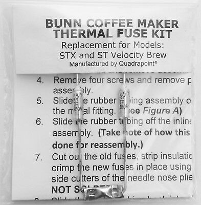 Repair Your Bunn Coffee Maker ~ Water not Heating? New Thermal Fuses