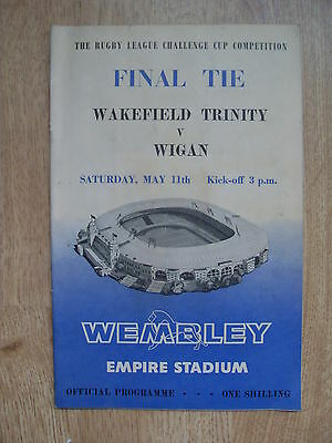 Wakefield Trinity v Wigan 1963 Rugby League Challenge Cup Final Programme