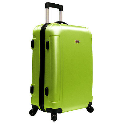 """Traveler?s Choice Green FREEDOM 25"""" Lightweight Spinner Rolling Luggage Suitcase"""