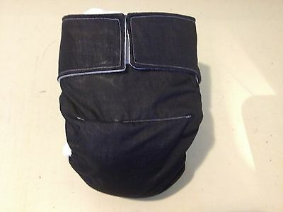 Adult Diaper,Extra Padding, Fully Functional All in One, Black,