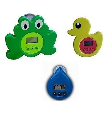 Digital Showertimer | Waterdrop, Duck & Frog Shower Timer
