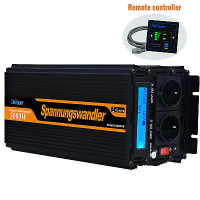 NEW VERSION 3000/6000 Watt DC 24V to AC 240V Power Inverter with LCD Display