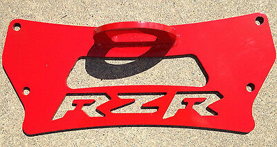 Polaris RZR 800 Rear Tow Hook Plate, RED