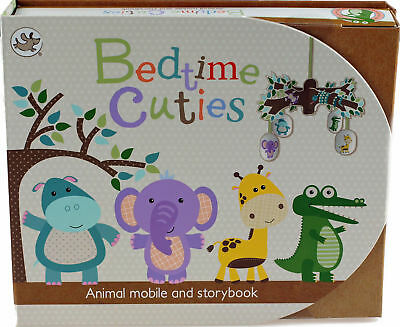 Bedtime Animal Cuties Rhyming Story / Bedroom Hanging Mobile - New Baby Gift Set