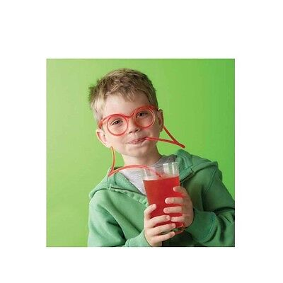 Silly Straws Goggle Drinking Straw Birthday Party Glass Funny Kids 3 Set Pack