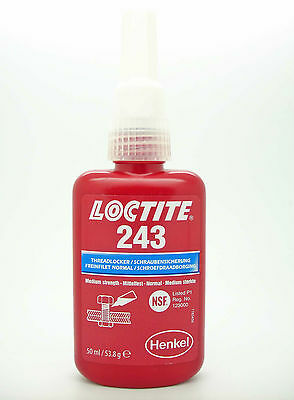 LOCTITE 243 x 50ml  Oil Tolerant Threadlocker- Genuine EU Style