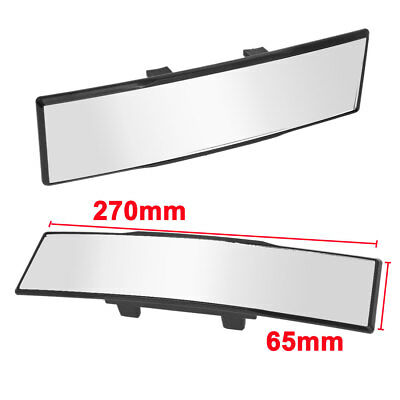 JDM 270mm Wide Curve Interior Clip On Rear View Mirror Panoramic