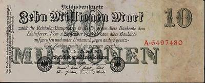 1923 Germany Weimar Republic 10.000.000 Mark Banknote