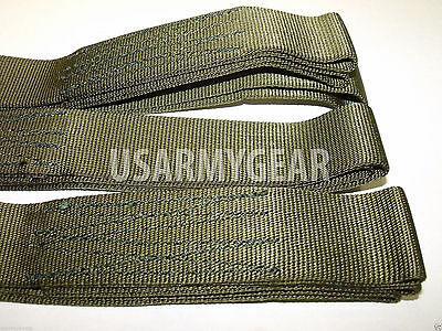 2 pc Set 5' Tow Cargo Strap w. Looped End Heavy Duty Sling 9000 lb Webbing USA