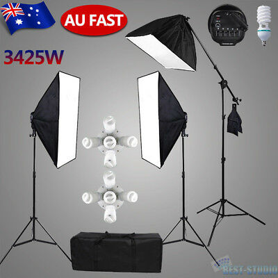 Photography Continuous Lighting Softbox Studio Soft Box Boom Arm Light Kit Set