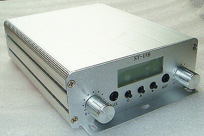 ST-15B PLL stereo Fm transmitter broadcast,86-108MHz  free shipping