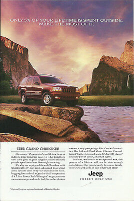 """2000 PRINT AD JEEP GRAND CHEROKEE """"MAKE THE MOST OF IT"""""""