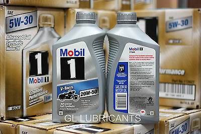 Mobil 1 V-Twin 20W50 Motorcycle Oil 5.67L/6-Quart