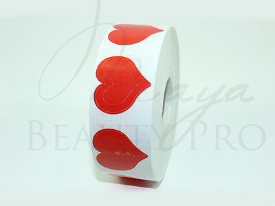 Roll of 1000 3 WAY HEART Tanning Stickers Triple Heart Tantoo Spraytan Craft