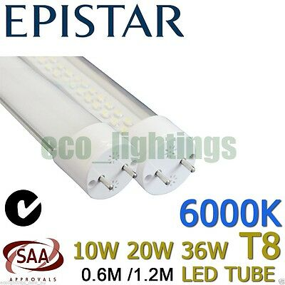 LED T8 Light tube lamp fluorescent replacement COOL WARM WHITE 10W 22W 36W 120cm