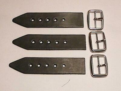 """Kilt Strap and Buckle 1.25""""-  Quality 3mm Leather x 3"""