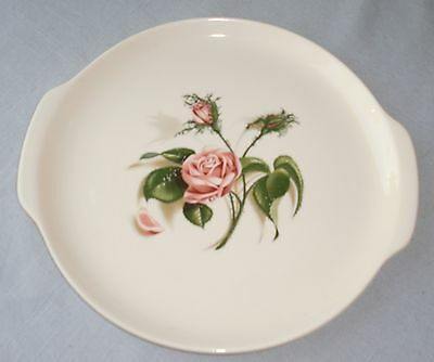 Cake Plate (oven proof) Moss Rose Universal Potteries USA ballerina vintage!