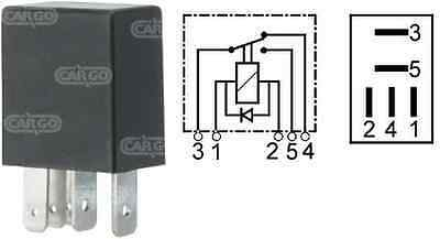 12V 5 Pin Compact Micro Mini Relay Change Over 15/25A With Diode Cargo 160366