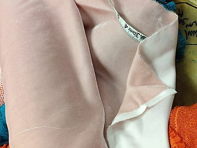 All Natural 100% Rayon Velvet    FABRIC  in Pastel Pink 43.5 in wide by the YARD