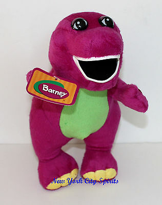"""Barney Plush Singing """" I Love You"""" Song 12 Inches with Flashing Light"""