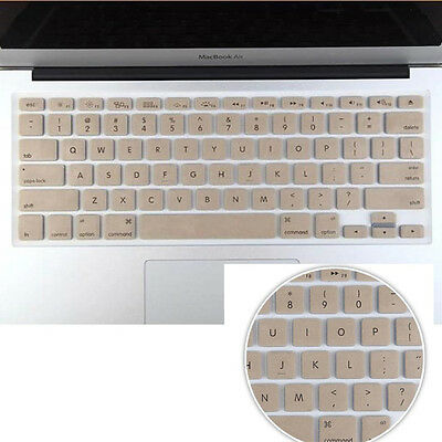 "Champagne Gold  Keyboard Cover Keypad Skin For MacBook Air 11""/ White Pro 13 15"""