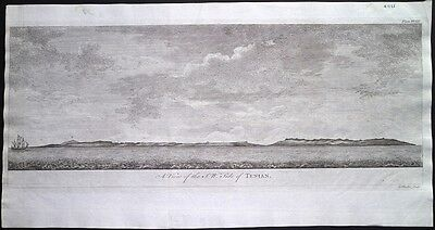 Antique map, A view of the S.W. side of Tenian