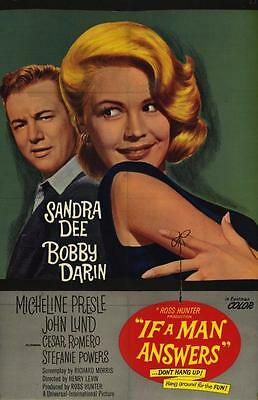 If a Man Answers Movie POSTER 11 x 17 Sandra Dee, Bobby Darin, Stefanie Powers,A