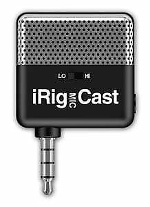 IK Multimedia iRig-Cast Portable Microphone Recorder for iPhone iPad iDevice ...