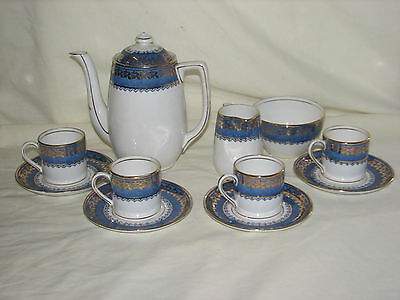 Vintage Melba Bone China, 11 Piece Coffee Set. Made in England.