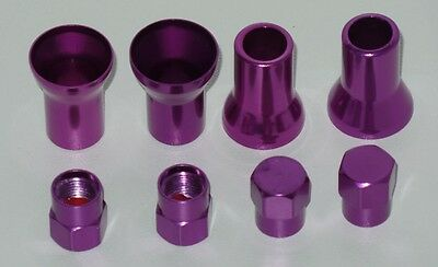 4 Sets Purple Color Cover of Stem and Cap For TR413 Tire Valve