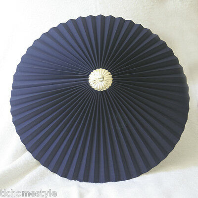 "Navy Blue 17"" Pleated uplighter Pendant lampshade"