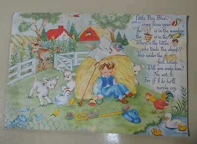 Early 1900s Jigsaw Tray Puzzle Little Boy Blue Excellent Condition  AA