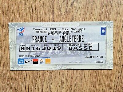 France v England 2006 Used Rugby Ticket
